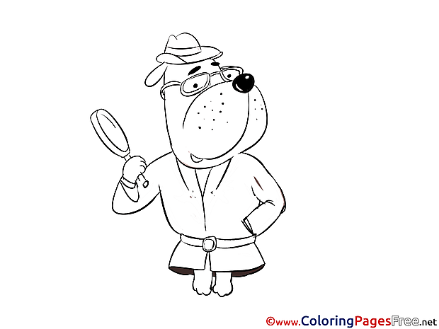 Dog printable Coloring Pages for free