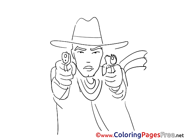 Gangster free printable Coloring Sheets