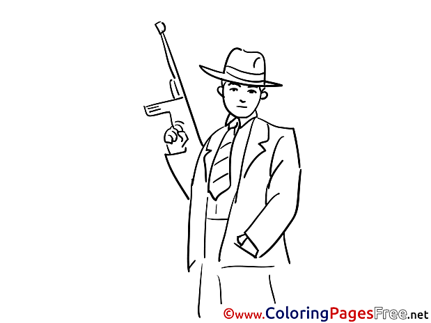 Gangster Kids download Coloring Pages