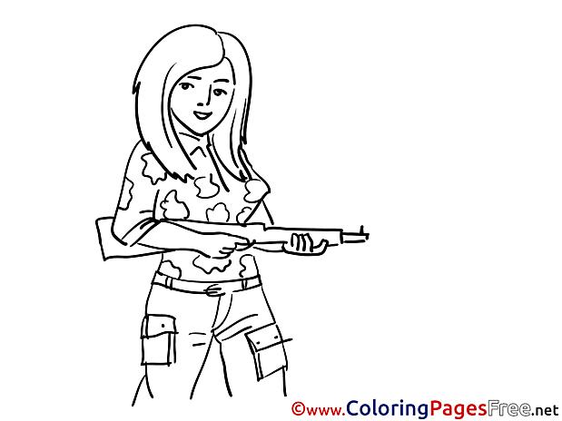 Girl Colouring Page printable free