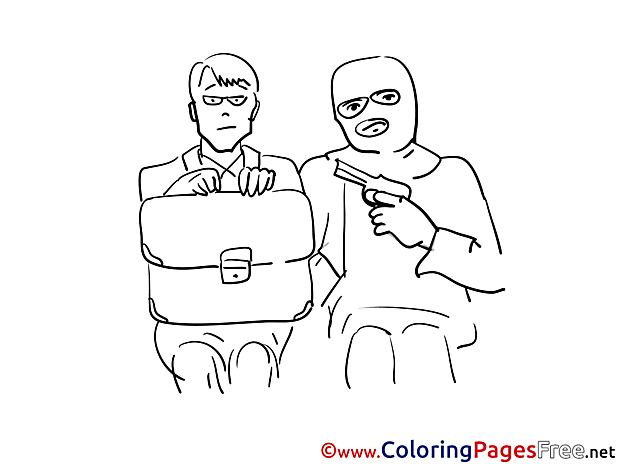 Hostage printable Coloring Sheets download