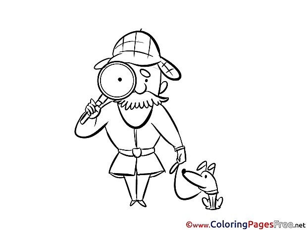 Loupe Colouring Page printable free