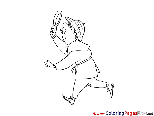 Loupe Colouring Sheet download free