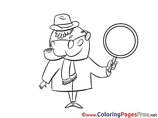 Loupe Kids free Coloring Page