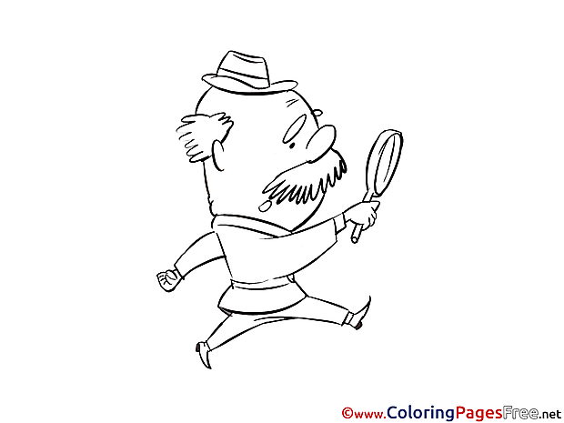 Old Man free printable Coloring Sheets