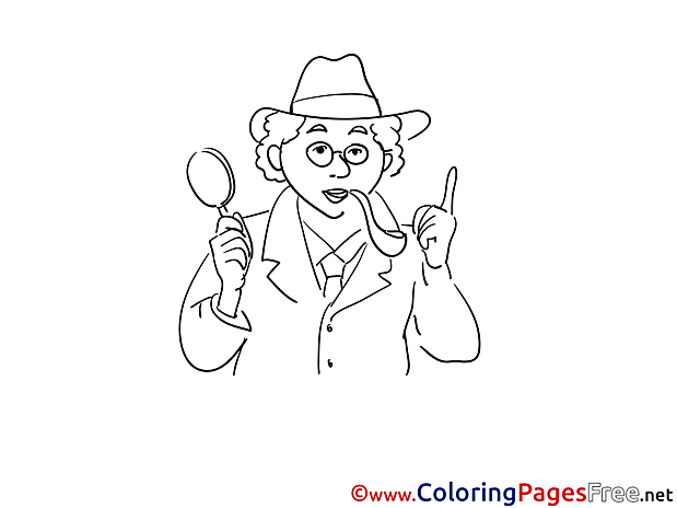 Pipe Detective Kids free Coloring Page