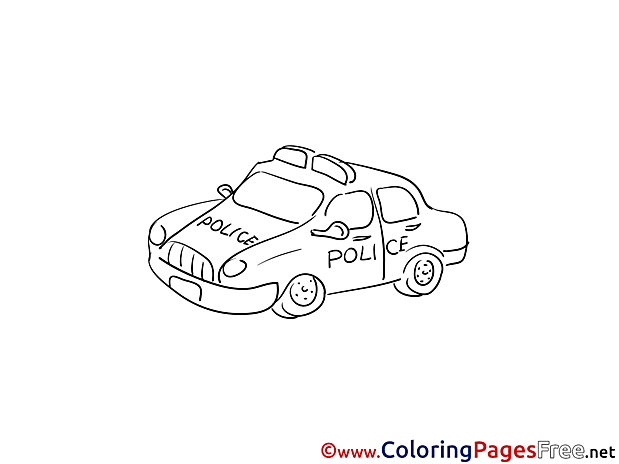 Police Car printable Coloring Pages for free