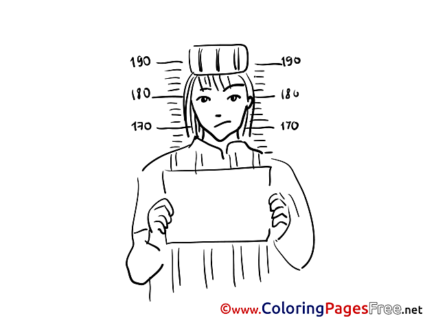 Prisoner Children Coloring Pages free