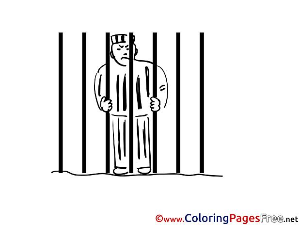 Prisoner download Colouring Sheet free