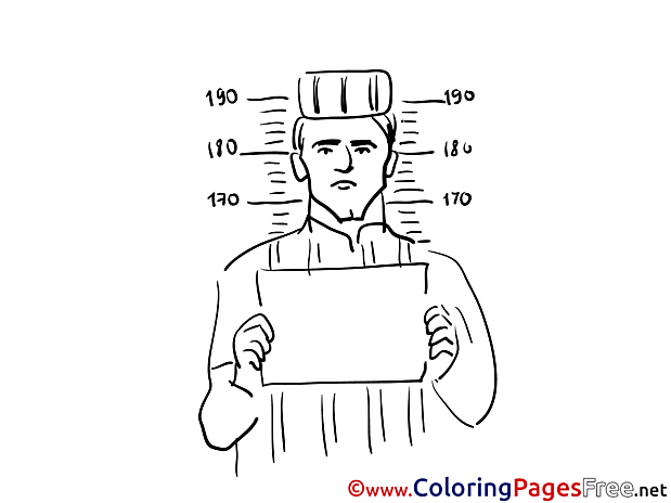Prisoner free Colouring Page download