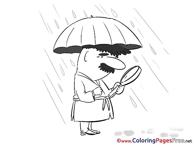 Rain Kids download Coloring Pages