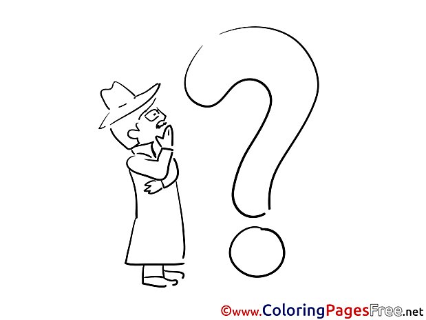 Riddle free Colouring Page download