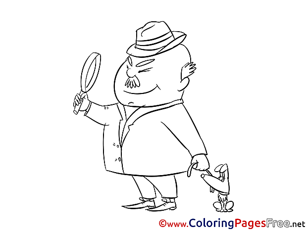 Sleuth Colouring Sheet download free
