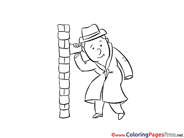 Spy for free Coloring Pages download