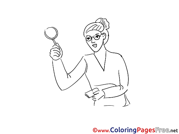 Woman Colouring Page printable free