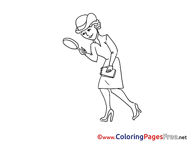 Woman download printable Coloring Pages