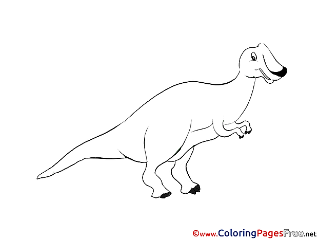 Image Dinosaur Colouring Page printable free