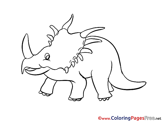 Triceratops Children Coloring Pages free