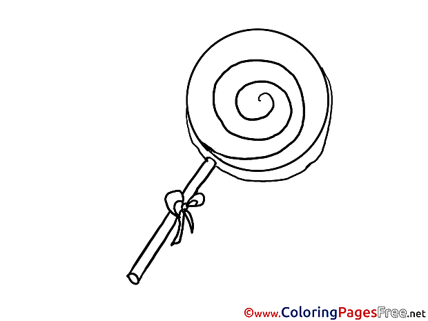 Candy Colouring Sheet download free
