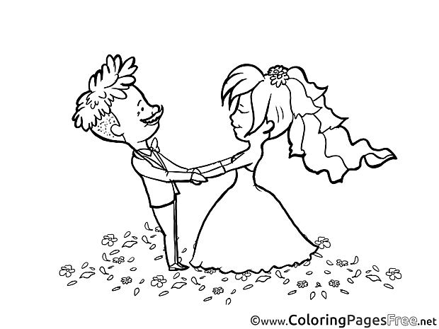 Couple dancing for Children free Coloring Pages