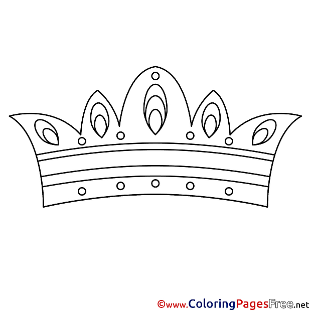 Crown free Colouring Page download