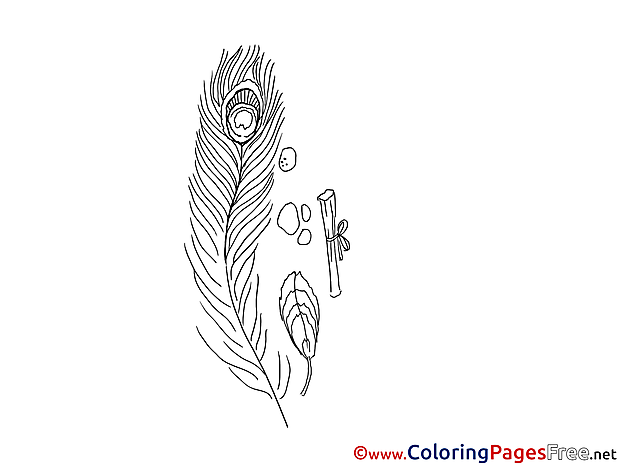 Feather Kids download Coloring Pages