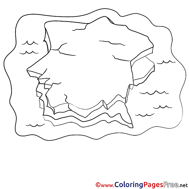 Iceberg download printable Coloring Pages