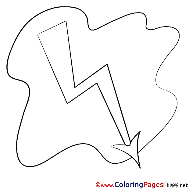 Lightning Kids download Coloring Pages