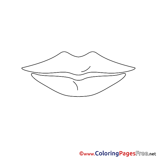 Lips for Kids printable Colouring Page