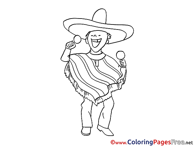 Mexican sings download Colouring Sheet free