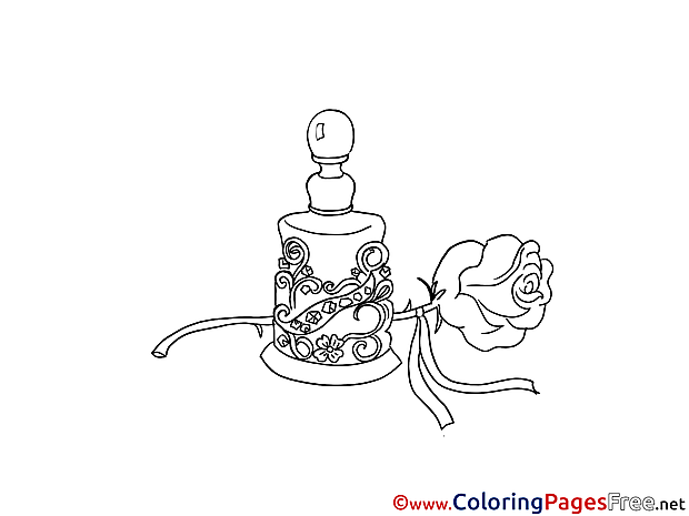 coloring pages perfume - photo#25