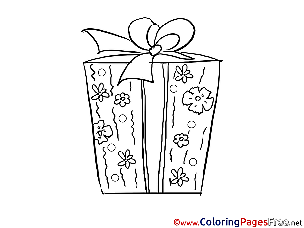 Present Kids free Coloring Page