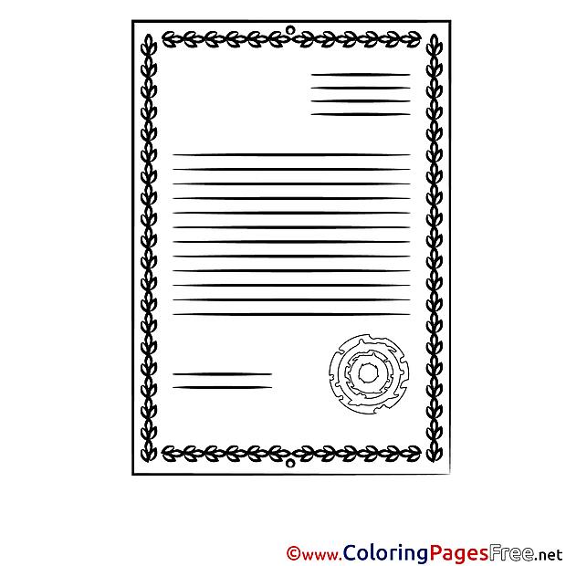 Printable Diploma Coloring Sheets download