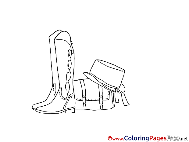 Shoes Hat Coloring Sheets download free
