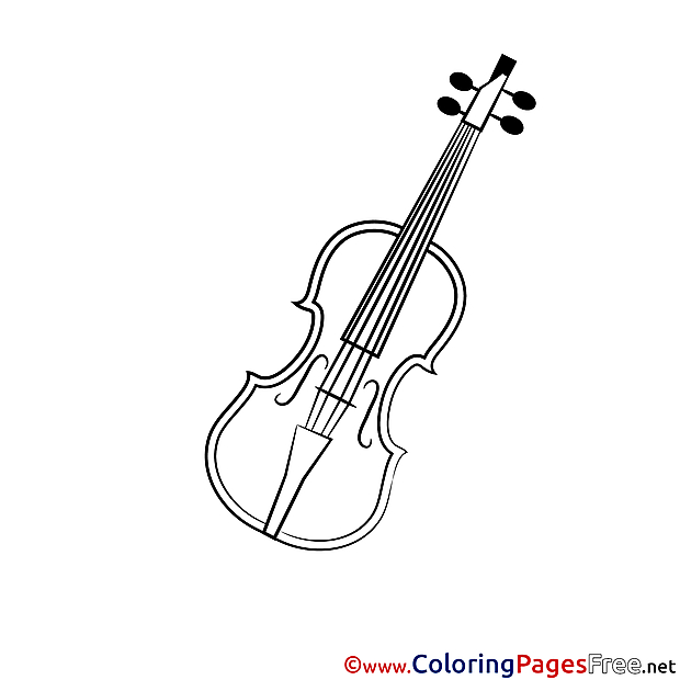 Violin Children Coloring Pages free