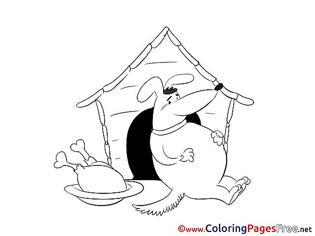 Food Dog Coloring Sheets download free