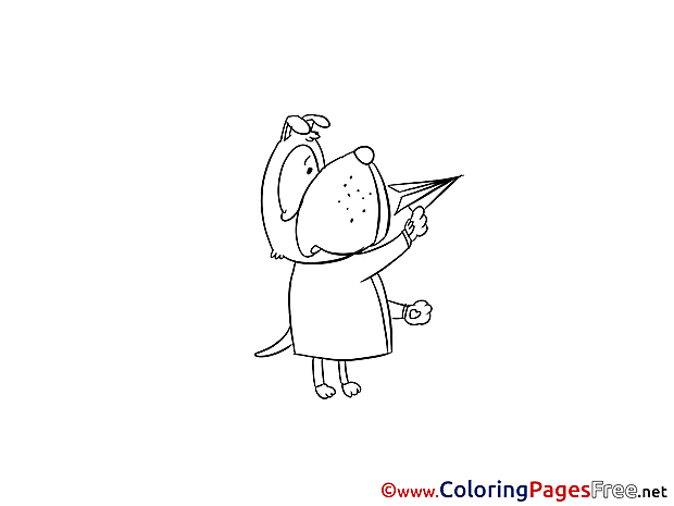 Plane for Children free Coloring Pages