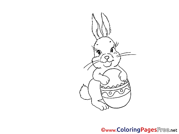 Colouring Page Easter free Bunny