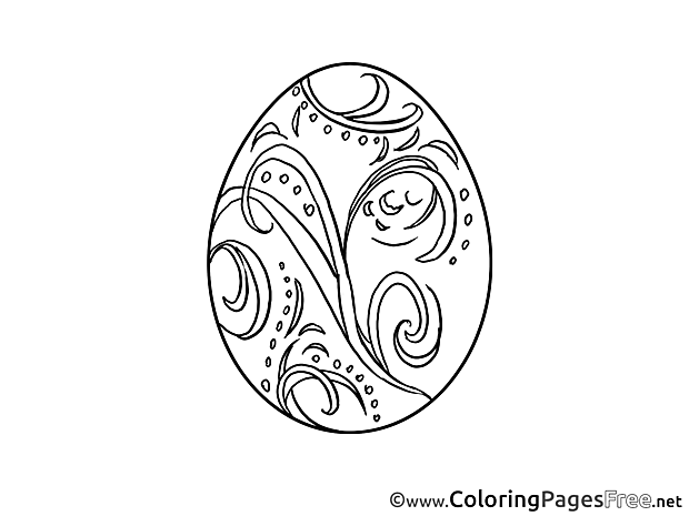 Decoration Easter Egg Coloring Pages free