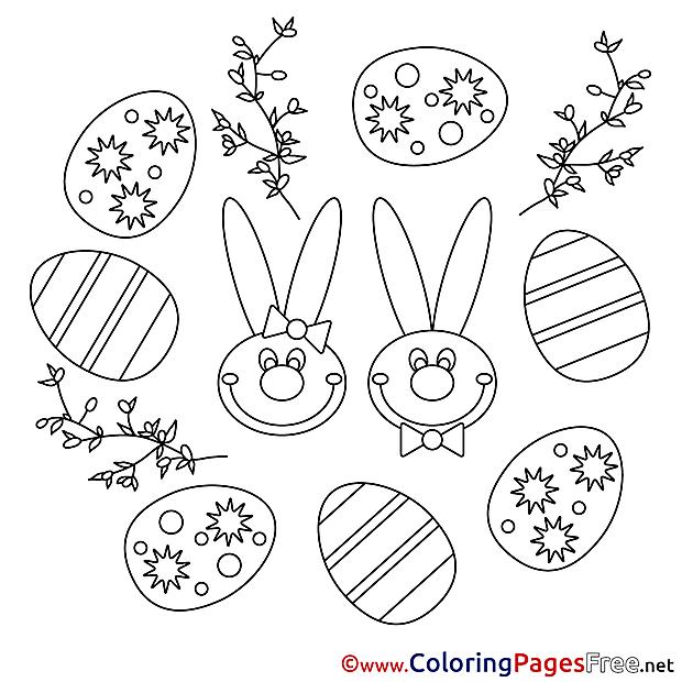 Festival Easter Colouring Sheet free