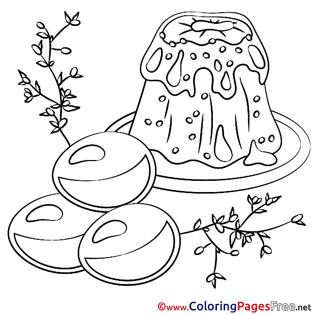 Food Easter free Coloring Pages