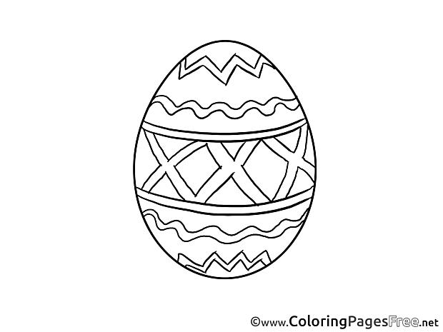 Printable Easter Egg Coloring Sheets