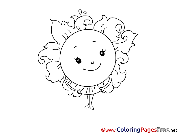 Sun free Colouring Page Easter