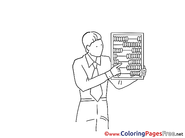 Abacus Man Children Coloring Pages free