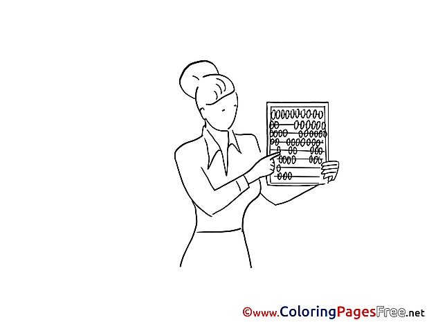Abacus Woman free Colouring Page download