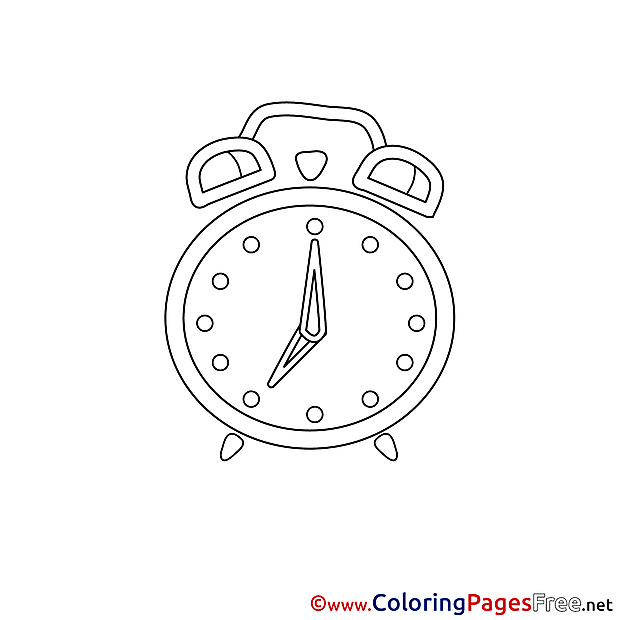 Alarm Children Coloring Pages free