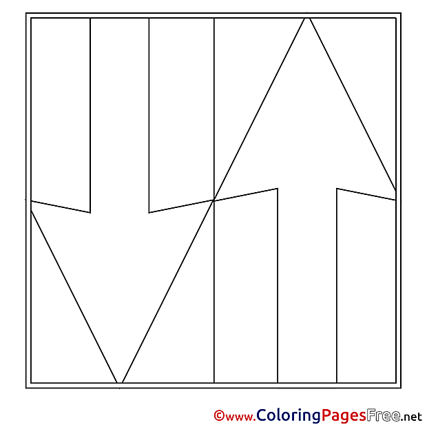 Arrow Coloring Sheets download free
