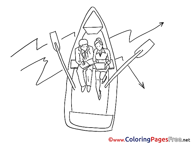Boat Business for Children free Coloring Pages