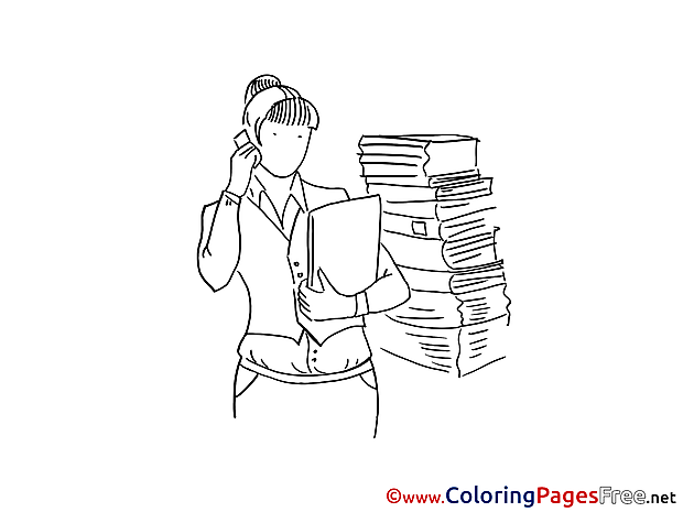 Books Woman Coloring Pages for free