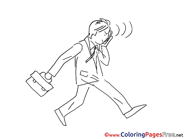 Businessman speaks printable Coloring Pages for free